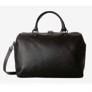 $145 Large Deux Luxe Black Weekender Travel Bag